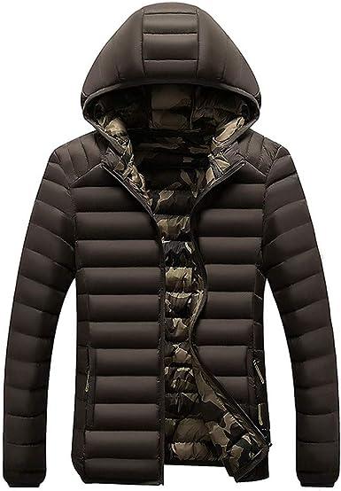 giubbotto giacca da uomo invernale giubbino dritto piumino cappuccio XXL nero