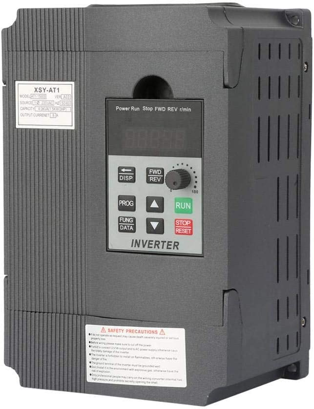 220V Single-phase Variable Frequency Drive VFD Speed Controller for 3-phase 1.5kW AC Motor Fishlor Variable Frequency Drive