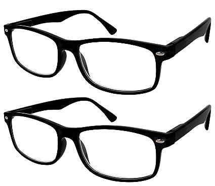 27540c9519 TBOC Gafas de Lectura Presbicia Vista Cansada - (Pack 2 Unidades) Graduadas  +1.50