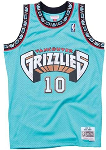 Amazon.com : Mitchell & Ness Vancouver Grizzlies Mike Bibby 1998 ...