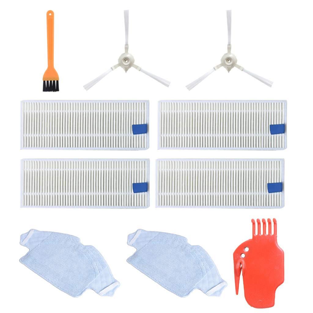 For 360 S6 Sweeping Robot Vacuum Cleaner Filter Screen Mop Side Brush Repair Kit