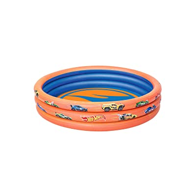 Bestway Hot Wheels Children\'s 3-Ring Paddling Pool: Toys & Games [5Bkhe0202067]