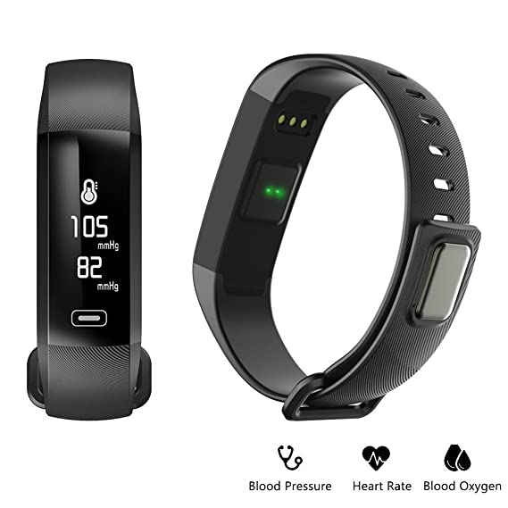 Amazon.com: Fitness tracker 0.96 inch OLED touchscreen Smartband Heart Rate Blood Oxygen Pressure Monitor Pedometer watch Smart bracelet WristBand with ...