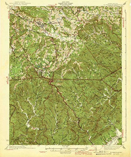 YellowMaps Blowing Rock NC topo map, 1:62500 Scale, 15 X 15 Minute, Historical, 1942, 19.8 x 16.5 in - Paper (Map Of Boone And Blowing Rock Nc)