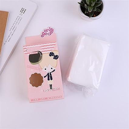 Huihuger Tejido Facial suave y portátil de viaje Telas no tejidas suaves Maquillaje cosmético blanco Limpieza