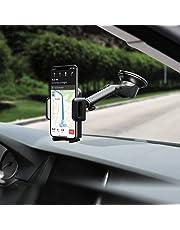 Mpow【Versione AGGIORNATA】Supporto Smartphone per Auto Culla Regolabile [Garanzia 24 Mesi] per Cruscotto Dashboard Parabrezza, Porta Cellulare per Molti Smartphone e DisposidiviSwitch, GPS, Grigio