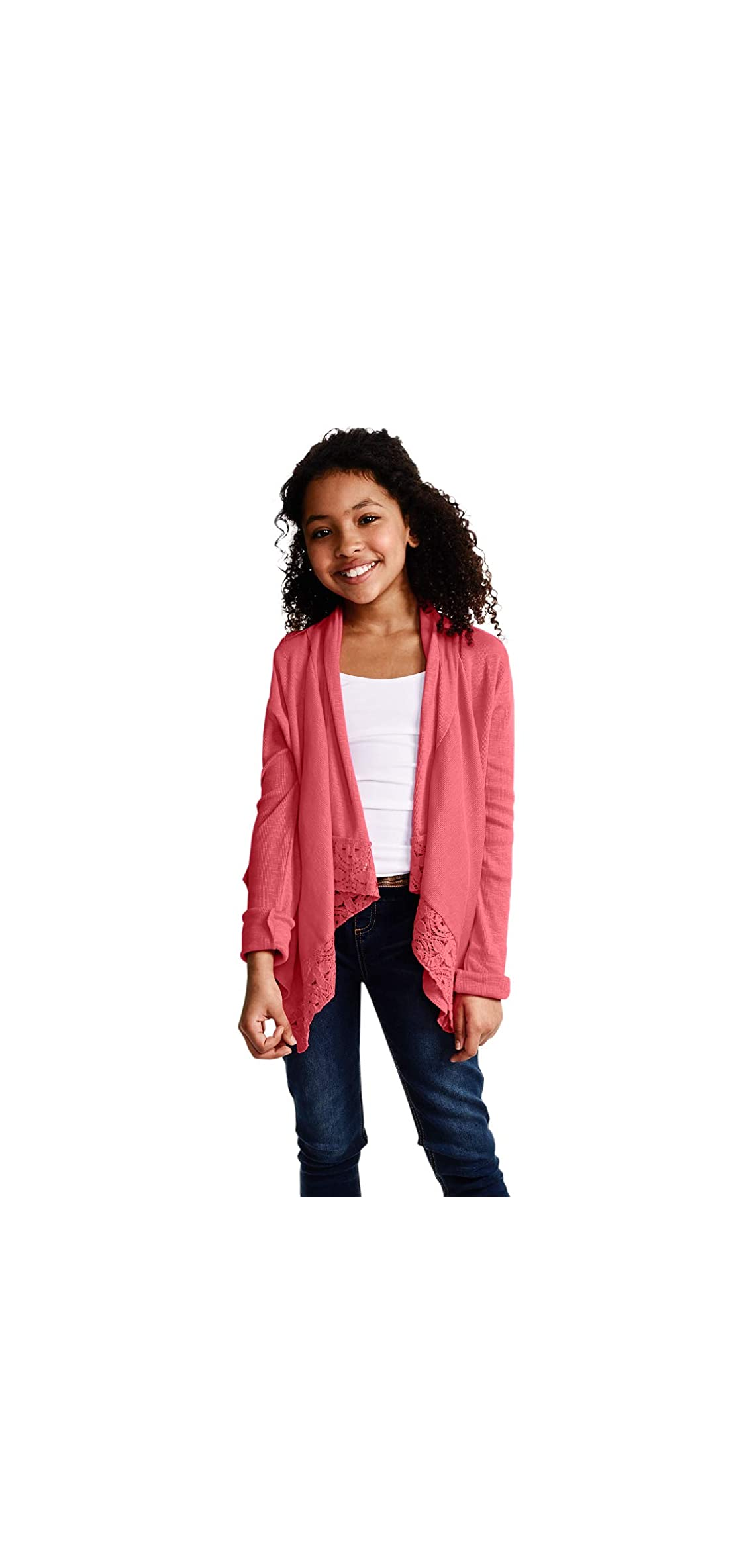 Cardigan For Girls  Open Front Long Sleeve Fall Sweater