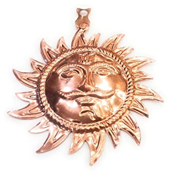 Buy Rudraksha Gems Store Pure Copper Sun Face Tambe Ka Surya For Wall Hanging For Home Office Online At Low Prices In India Amazon In
