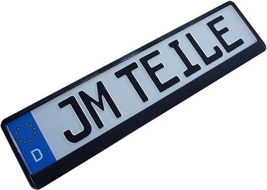 2 X Kennzeichenhalter Schwarz Metallic 13 Hochglanz Nummernschildhalter Auto