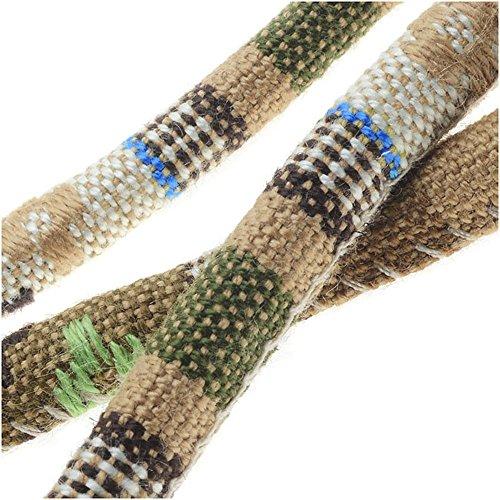 Multi-Colored Cotton Cord, Round Woven Strands 6mm Thick, 3 Feet, Beige (Multi Colored Cord)