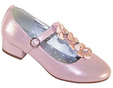 28cd4e10cdf177 Sparkle Club Girls Rose Pink Shimmer Party Dress Shoes for a Special  Occasion Synthetic Mary -
