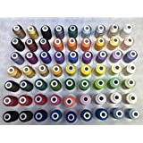 63 Assorted Colors Polyester Embroidery Machine Thread Set (500 Meters Each)