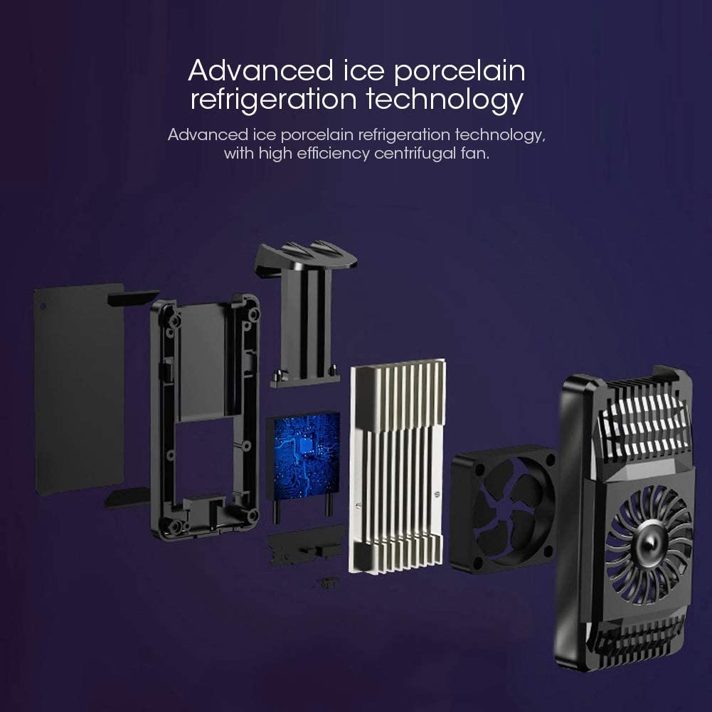 Tecnolog/ía de semiconductores sjlerst Radiador de tel/éfono Otro AH-101 Semiconductor Radiador de tel/éfono m/óvil Ventilador de refrigeraci/ón Soporte de Clip Enfriador port/átil