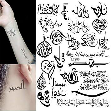 Multi Style 24 Modeles Tatouage Temporaire Bras Art Du Corps Autocollants De Tatouage Geometrique Arabe Noir Hot Amazon Fr Beaute Et Parfum