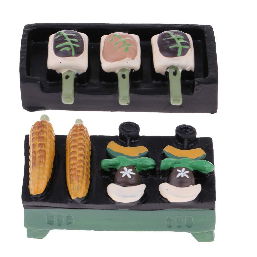 Amazon.es: P Prettyia Modelo Exhibición de Barbacoa con Molde Comida para Escala 1/12 Jardín de Muñecas: Juguetes y juegos