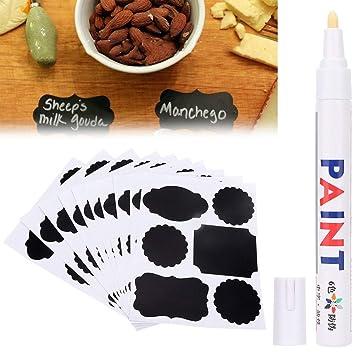 Jar Chalkboard Spice Blackboard Label Marker Pen Bottle Tags Labels Stickers