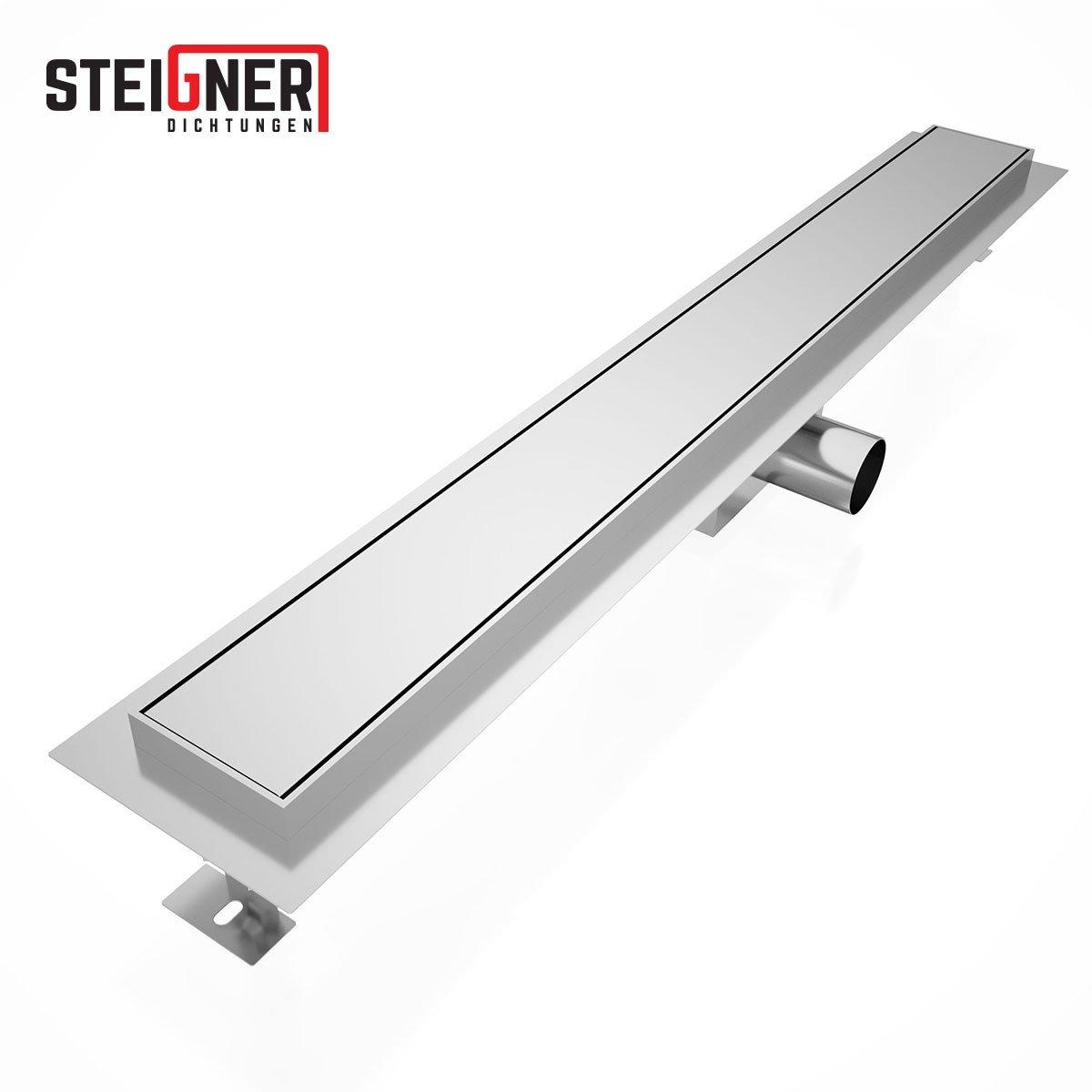 Steigner Amsterdam SDR90 - Desagü e de ducha, de acero inoxidable SDR90, 100 cm, 1 pieza 100cm 1pieza 52819074