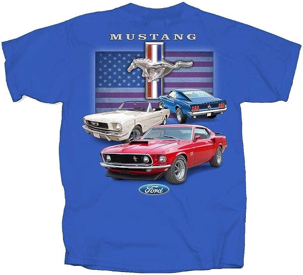 Ford Mustang T-Shirt Bleu Roi