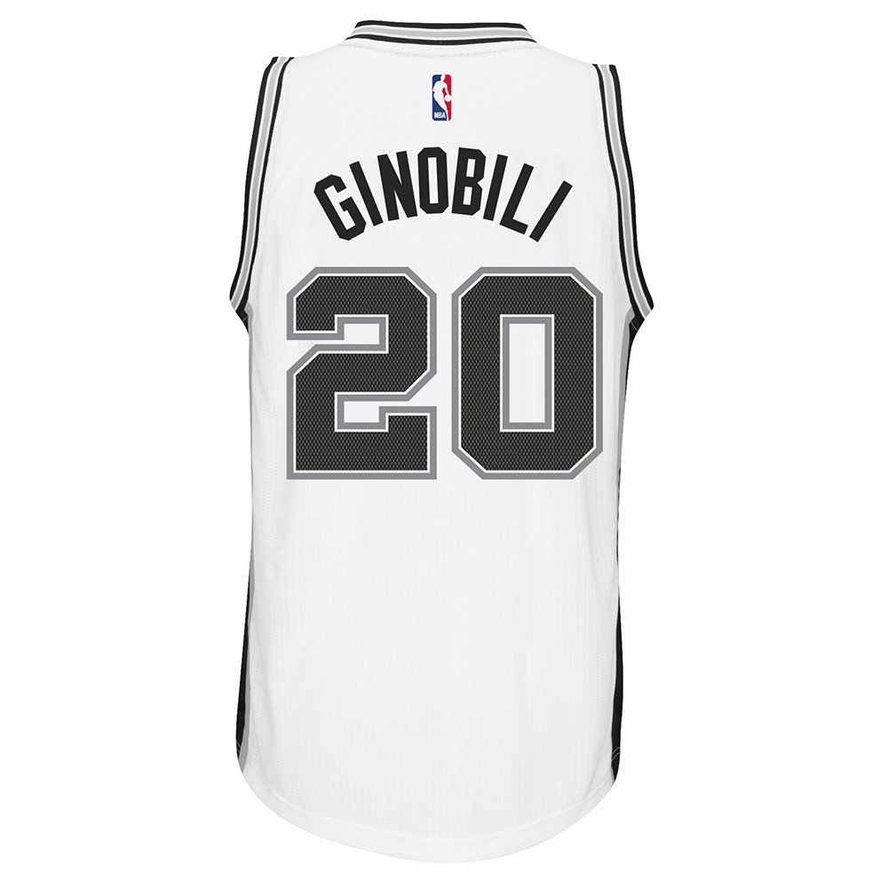 Manu Ginobili San Antonio Spurs NBA Adidas Men White Official Climacool Home Swingman Jersey