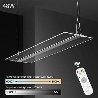 Lámpara colgante 48W regulable LED Moderna Lámpara de Techo ...