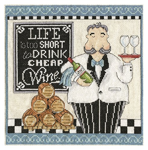 Tobin 2864 14 Count Wine Counted Cross Stitch Kit, 10