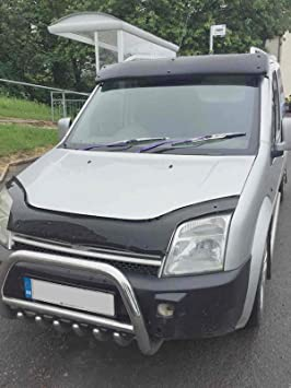 2018 on Van Demon Tailored Black Bonnet Deflector Acrylic Hood Stone Bug Protector Guard for Ford Transit Custom