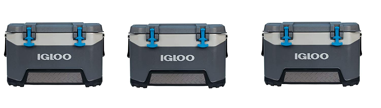 Carbonite Gray//Carbonite Blue Pack of 2 Igloo BMX 52 Quart Cooler