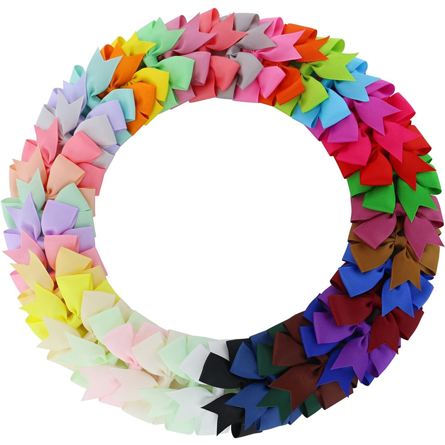 Baby girls hair accessories amazon baby girls boutique grosgrain ribbon pinwhell hair bows clips for teens babies kids toddlers set of 40 colors dhlflorist Image collections