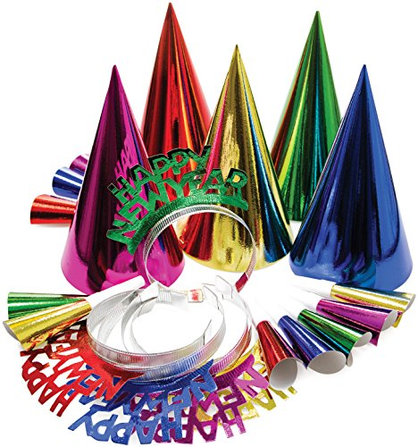 Creative Converting New Year's Party Kit for 10, Multicolored -