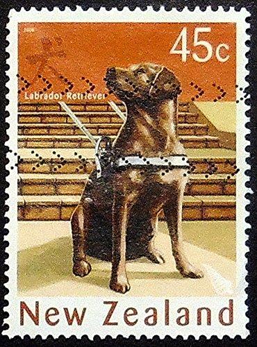 Labrador Retriever dog -Handmade Framed Postage Stamp Art 21545AM Retriever Dog Stamp