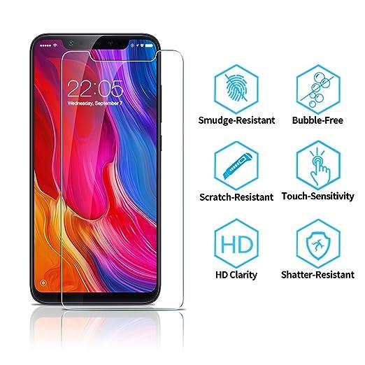 ESR Protector Pantalla para Xiaomi Mi 8 [Garantía de por Vida], Cristal Templado Xiaomi Mi 8 9H Dureza, Anti-Huella para Xiaomi Mi 8: Amazon.es: Electrónica