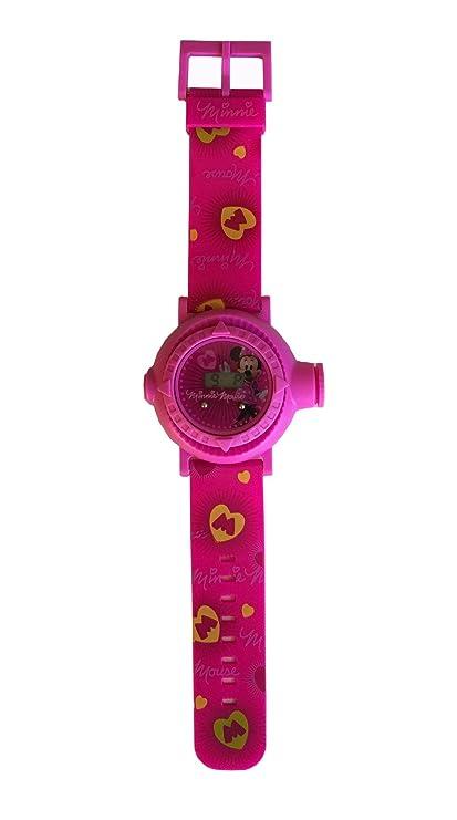 Reloj digital para niños con proyector de imágenes de personajes Disney - Minnie Mouse