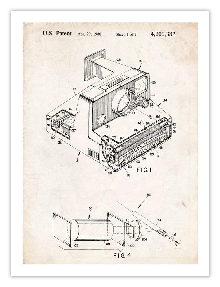 Amazon Com Polaroid Swinger Instant Camera Invention 18x24 Patent