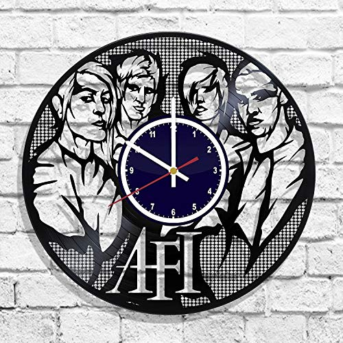 (BombStudio AFI Vinyl Record Wall Clock, AFI Handmade for Kitchen, Office, Bedroom. AFI Ideal Wall)