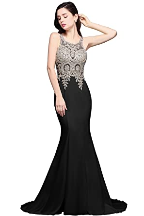 ac6aeb17fc7173 MisShow Women s Elegant Formal Sleeveless Bridesmaid Wedding Guest Dresses  Black