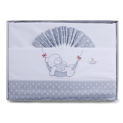 4f2bb44720 pekitas set di lenzuola sottili 3 pezzi per culla 60 X 120 100% Cotone  fatto in portogallo Orsetto bianco: Amazon.it: Prima infanzia