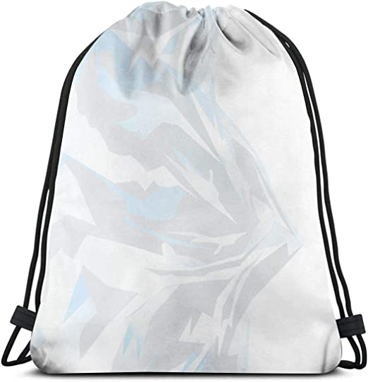 Drawstring Backpack Mountain Murals Gym Bag