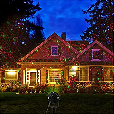 iTimo Led Garden Lawn Laser Lights IP65 Waterproof Star Projector For Christmas House Decoration