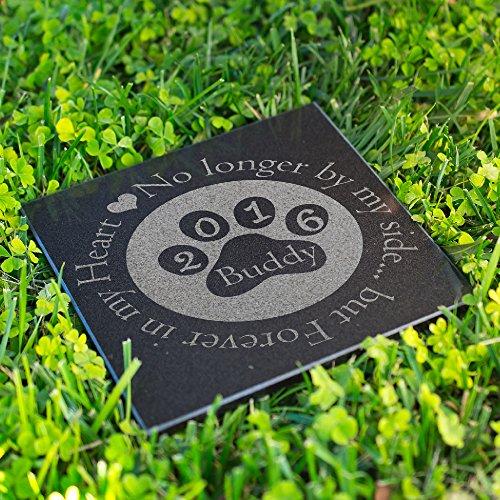 Personalized Dog Memorial Customized Dog Grave Marker Custom Headstone - DSG#10 - Aged Granite