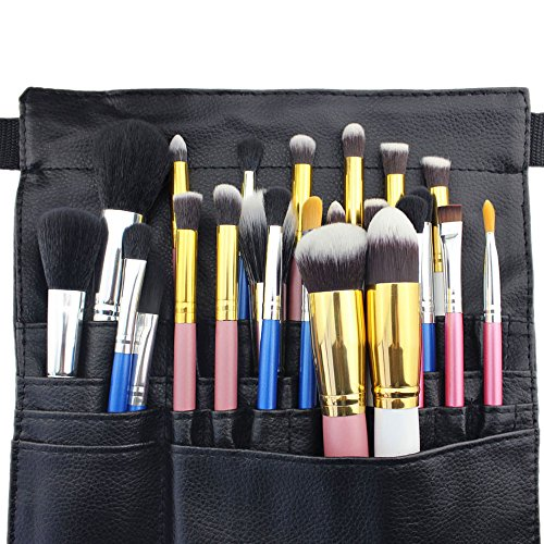 Hotrose� 22 Pockets Professional Cosmetic Makeup Brush Bag with Artist Belt Strap for Women
