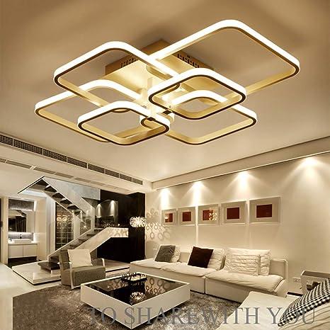 100W LED Moderne Deckenleuchte Wohnzimmer Lampe Ø70cm weiße ...