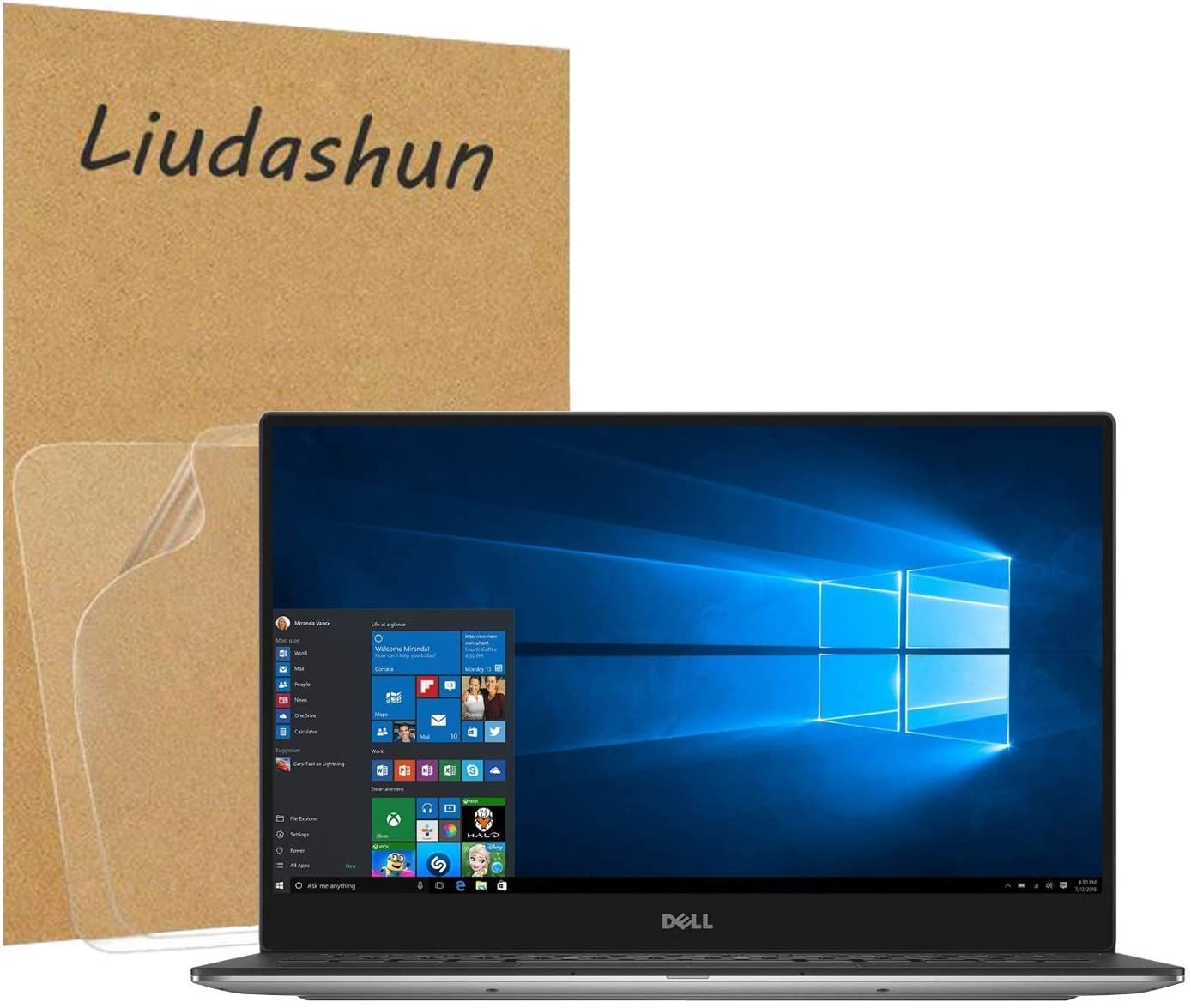 """Liudashun Screen Protector for Dell xps 9360 13.3"""" Laptop HD Clear Invisible Glossy Scratchproof (2-Pack)"""