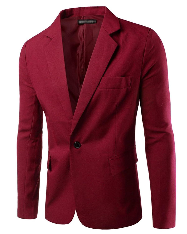 Fit Veste Bouton Business Slim Elegant Un Blazer Casual Homme wfz7t8xEqq