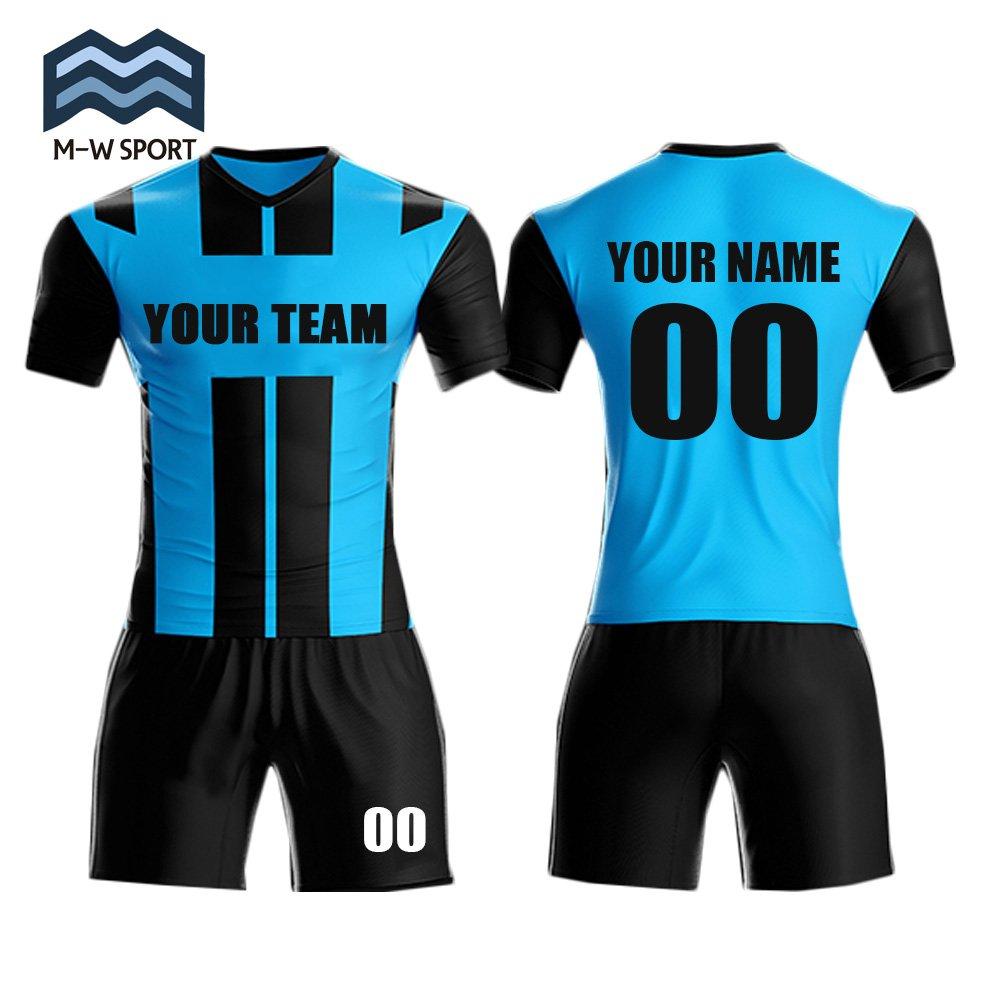 M-W Sports SHIRT メンズ B07BJJF4H9 Small|ブルー ブルー Small