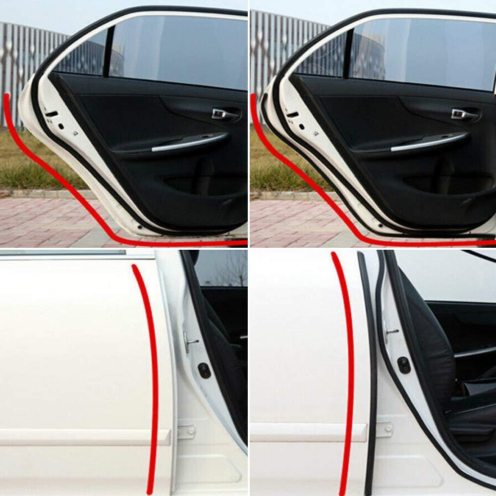 HOTEU 4M Automotive Rubber Seal Strip Big D-shape Car Truck Motor Door Rubber Seal Strip Hollow Door Seal
