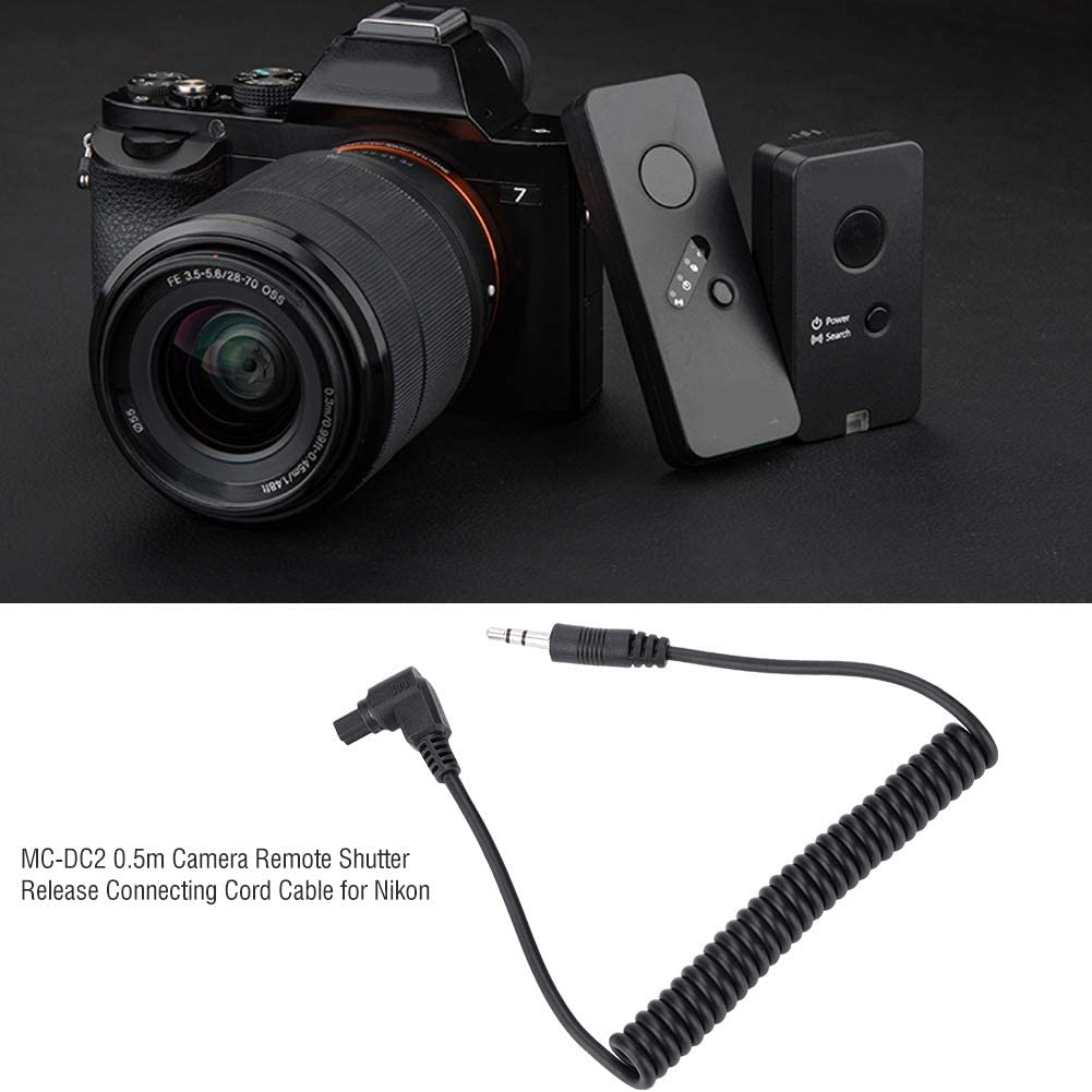 3.5mm-C3 RS-80N3 Shutter Release Cable,3.5mm C3 Camera Remote Shutter Release Connecting Cord Cable for Canon 1DX//1DS//1D//5DS//5DS R//5D MARK IV//5D MARK III//5D MARK II//7D MARK IV//7D MARK III etc.