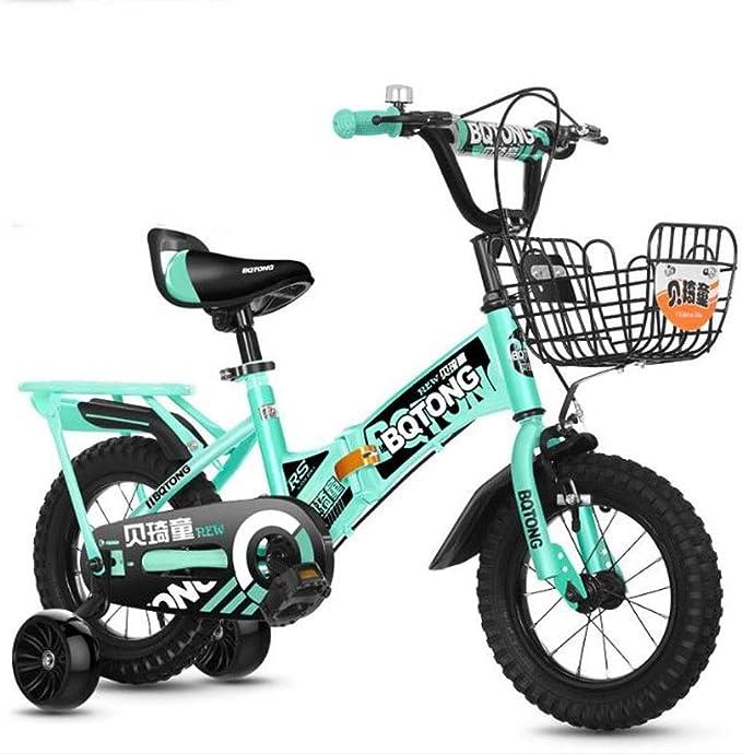 """K-G Bicicleta Infantil Formación del niño Plegable Acero de la Bici de la Bicicleta del niño con el Asiento Ajustable Manillar, en tamaño 12"""" 14"""" 16"""" 18"""" for el 2-12 Años de"""
