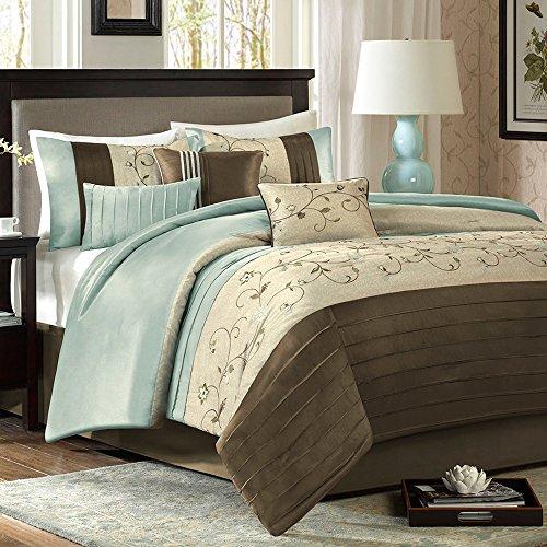 Madison Park Stylish Premium Quality Elegant Serene Blue 7 P