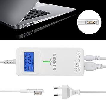 Aursen Universal Cargador Adaptador con 2 Puertos USB para Ordenador Portátil MacBook Pro 15