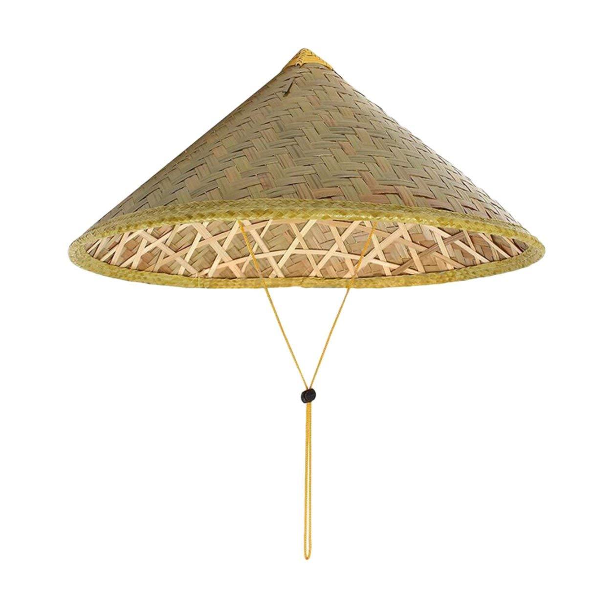 Cono Conico bamb/ù Cappello di Paglia Turismo Pioggia Protezione Unisex Pesca Cappello Agricoltore per Il Raffreddamento Sunblock Heraihe Cinese Cappello per Il Sole Orientale